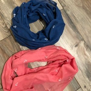 Two gorgeous anchor scarves